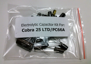 Cobra 25 LTD Classic / Uniden PC66A (PC-417AJ) electrolytic capacitor kit