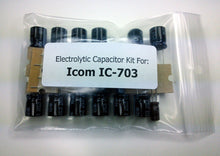 Load image into Gallery viewer, Icom IC-703 electrolytic capacitor kit