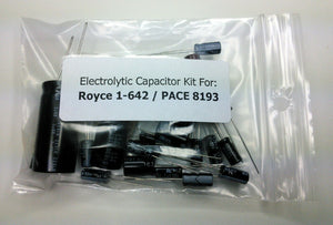 Royce 1-642 / PACE 8193 electrolytic capacitor kit