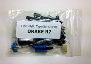 Drake R7 receiver radial/axial electrolytic capacitor kit
