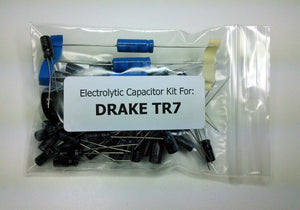 Drake TR7 Transceiver radial/axial electrolytic capacitor kit