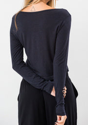 Cropped Long Sleeve Black