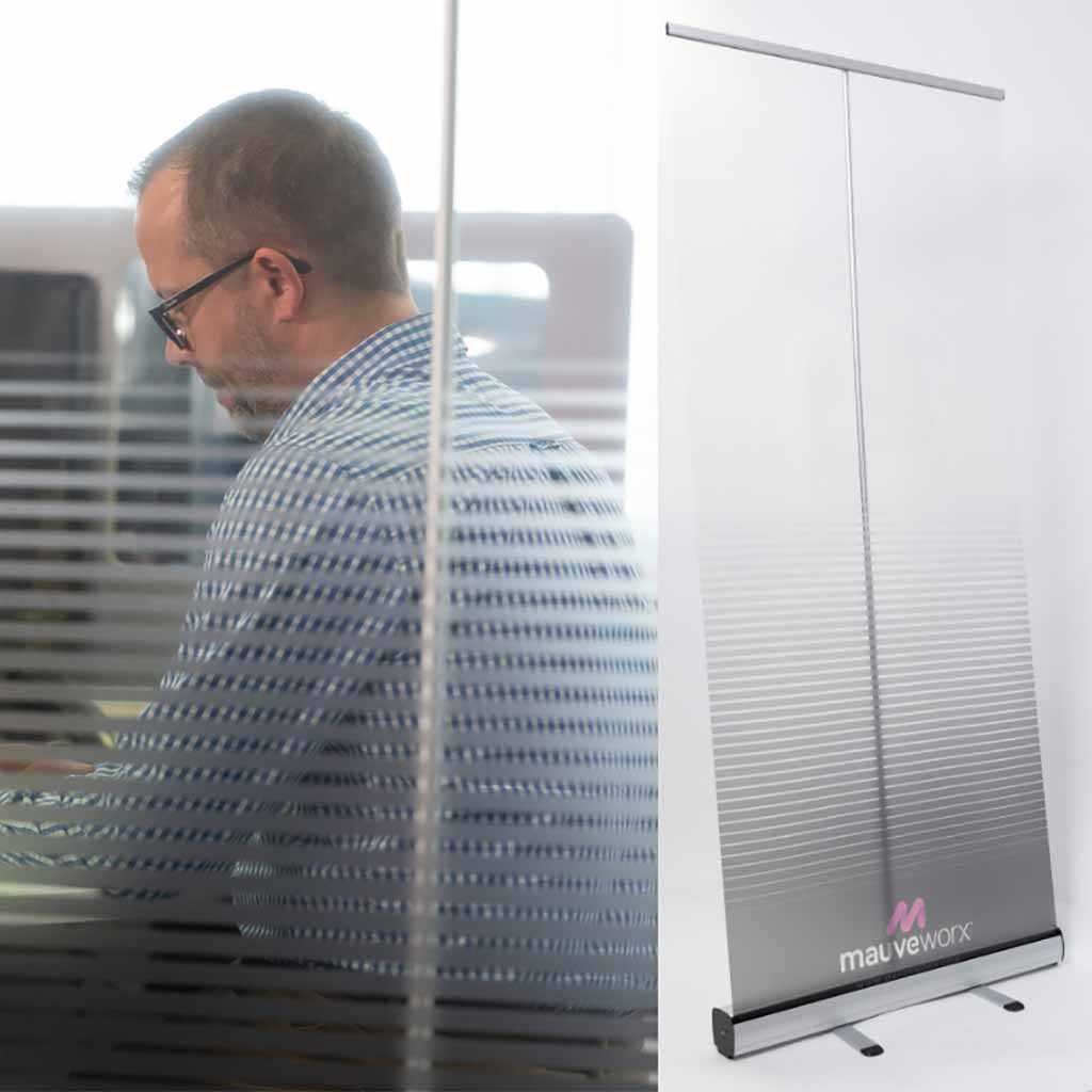 Covid secure free standing screens to divide offices and working areas