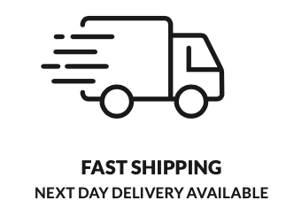 Symbols showing the benefits of buying products from Medworx including fast shipping.