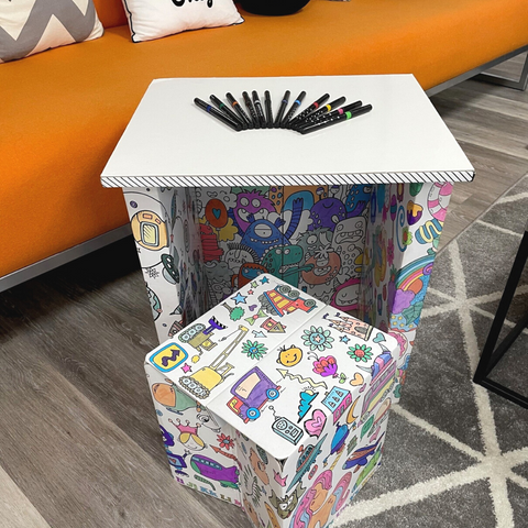 Pack a Desk Jr with pens to colour in the entire desk!