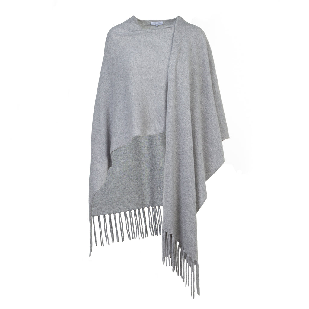Women's Cashmere Wrap Stole in Silver Grey