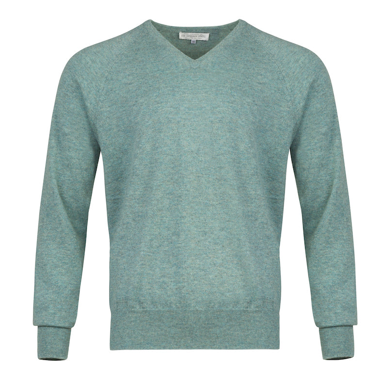 Men's Cashmere V-Neck Sweater in Loch Leven
