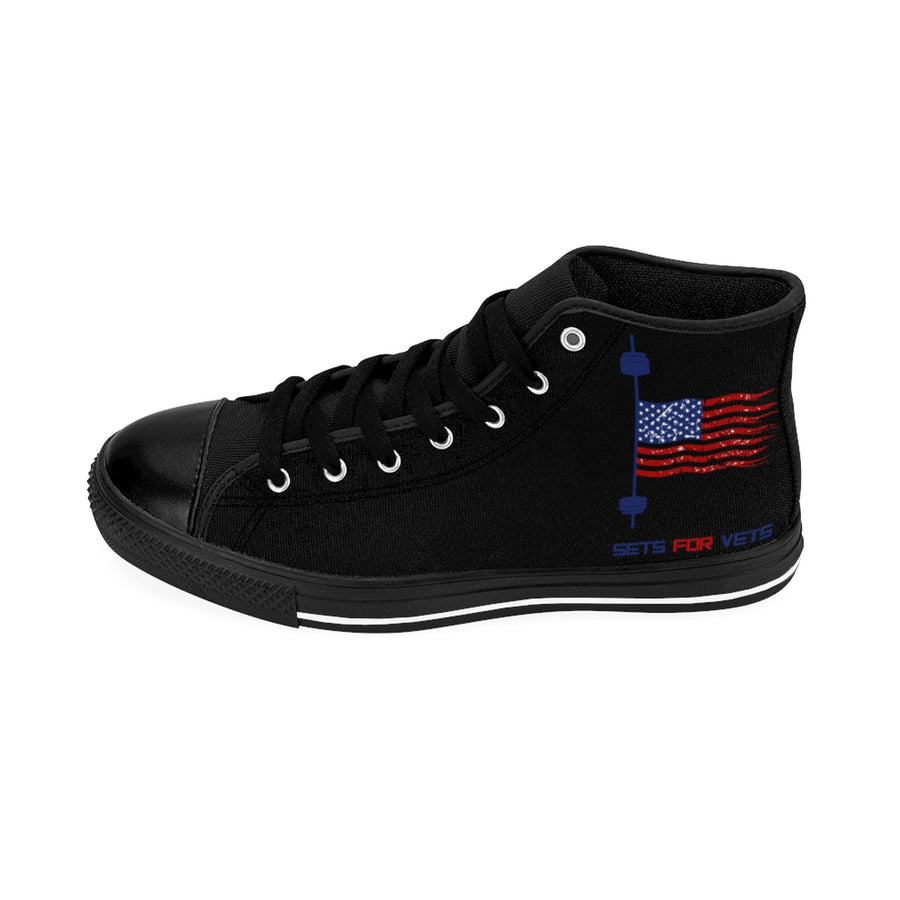 Male High-top Sneakers - Black