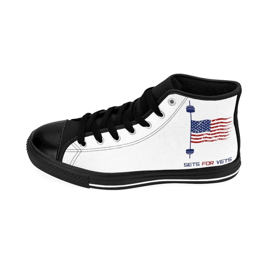 Male High-top Sneakers - White