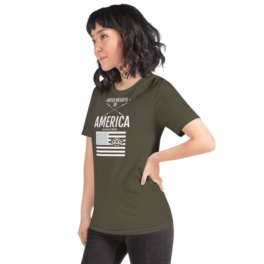 United Weights of America Tee (F) - OD Green