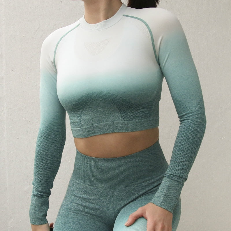 Rosie's Impact Long Sleeve Crop Top