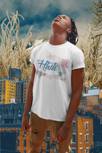 Load image into Gallery viewer, Haiti (Blue) Multicolor Map T-Shirt
