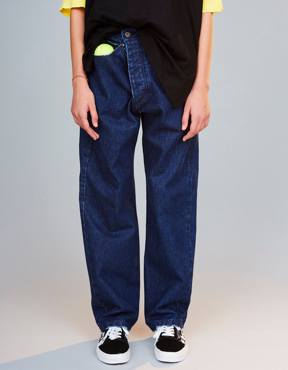 Indigo Denim Pants - 38 navy