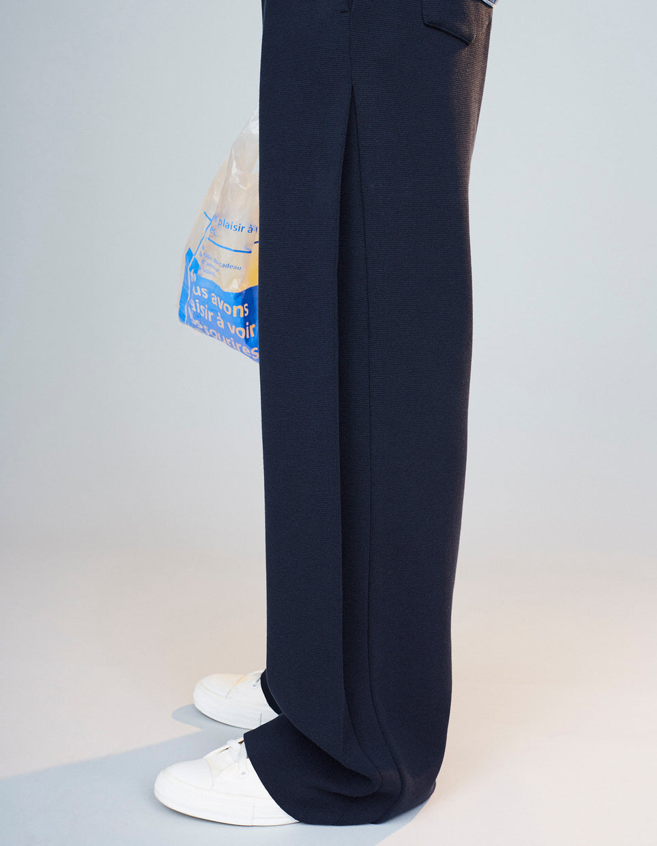 Knit Pants - 38 navy