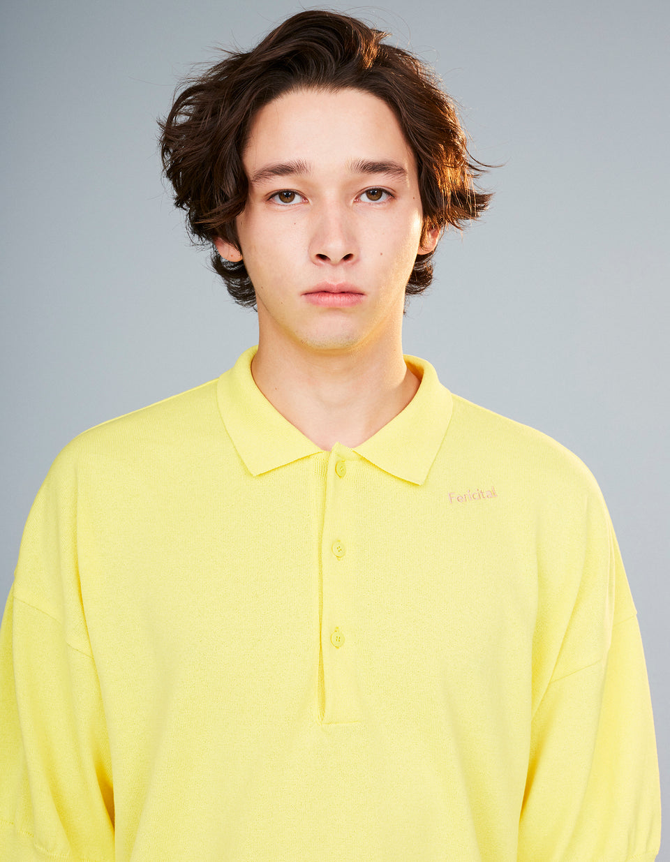 [SALE] Knit Polo Shirt - 55 yellow