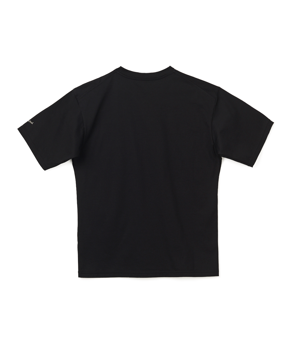 [SALE] Print Basic T Shirt - 99 black