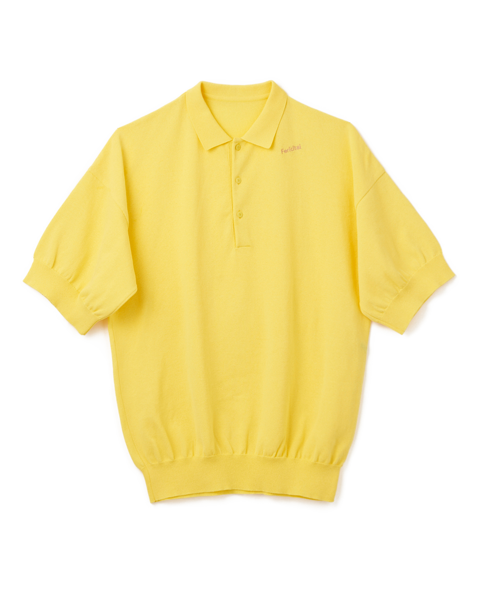 Knit Polo Shirt - 55 yellow