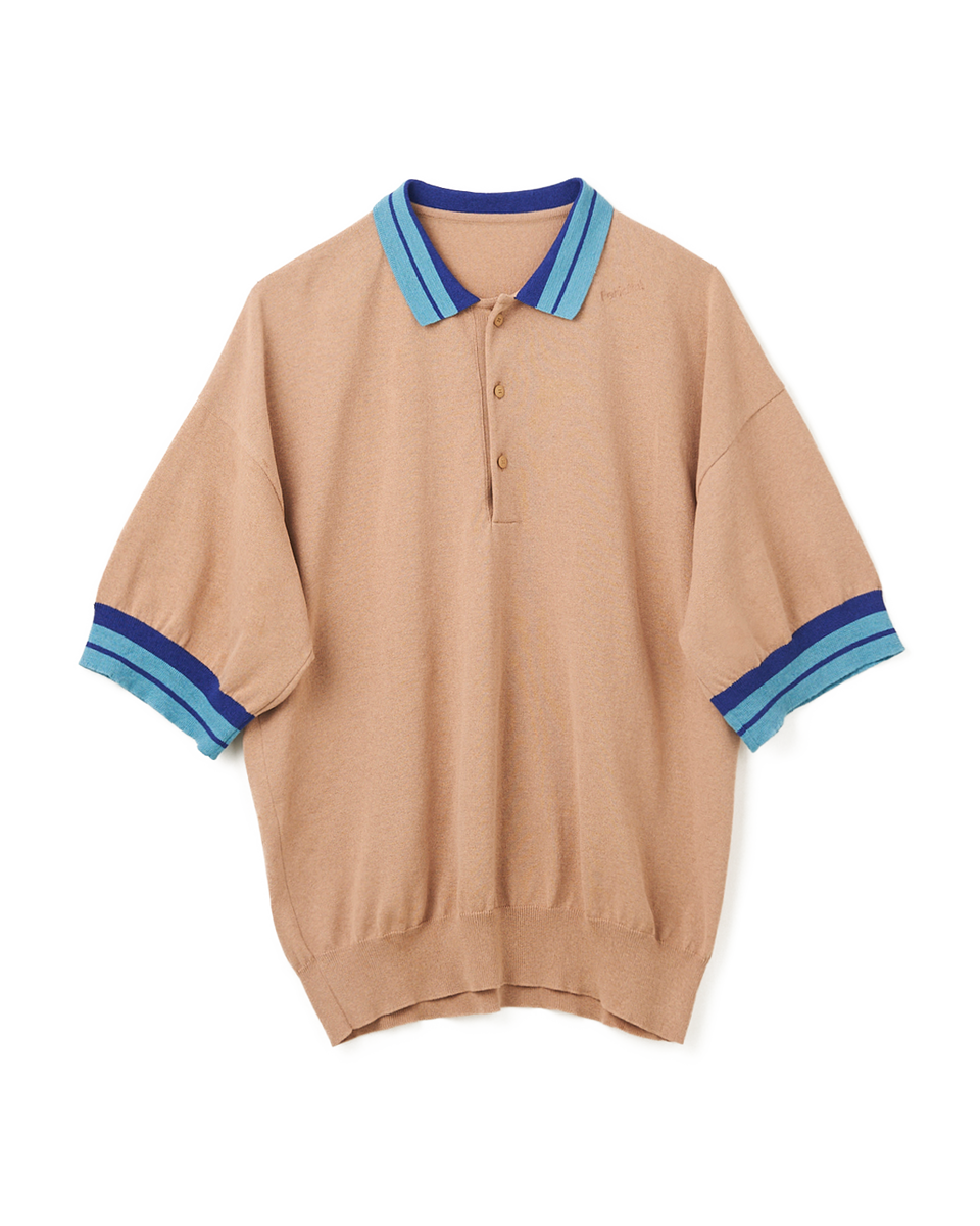Knit Polo Shirt - 81 M.beige