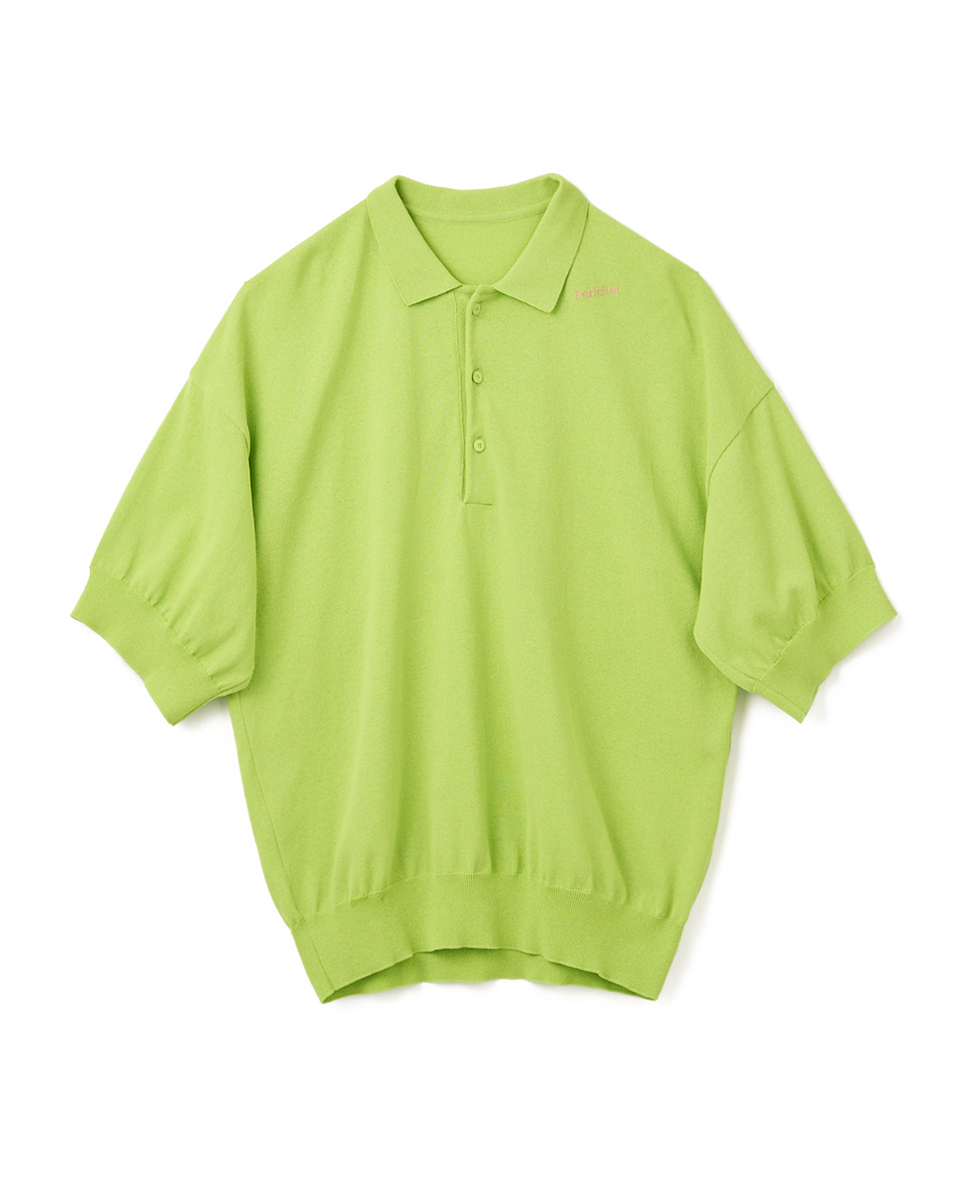 [SALE] Knit Polo Shirt - 42 green