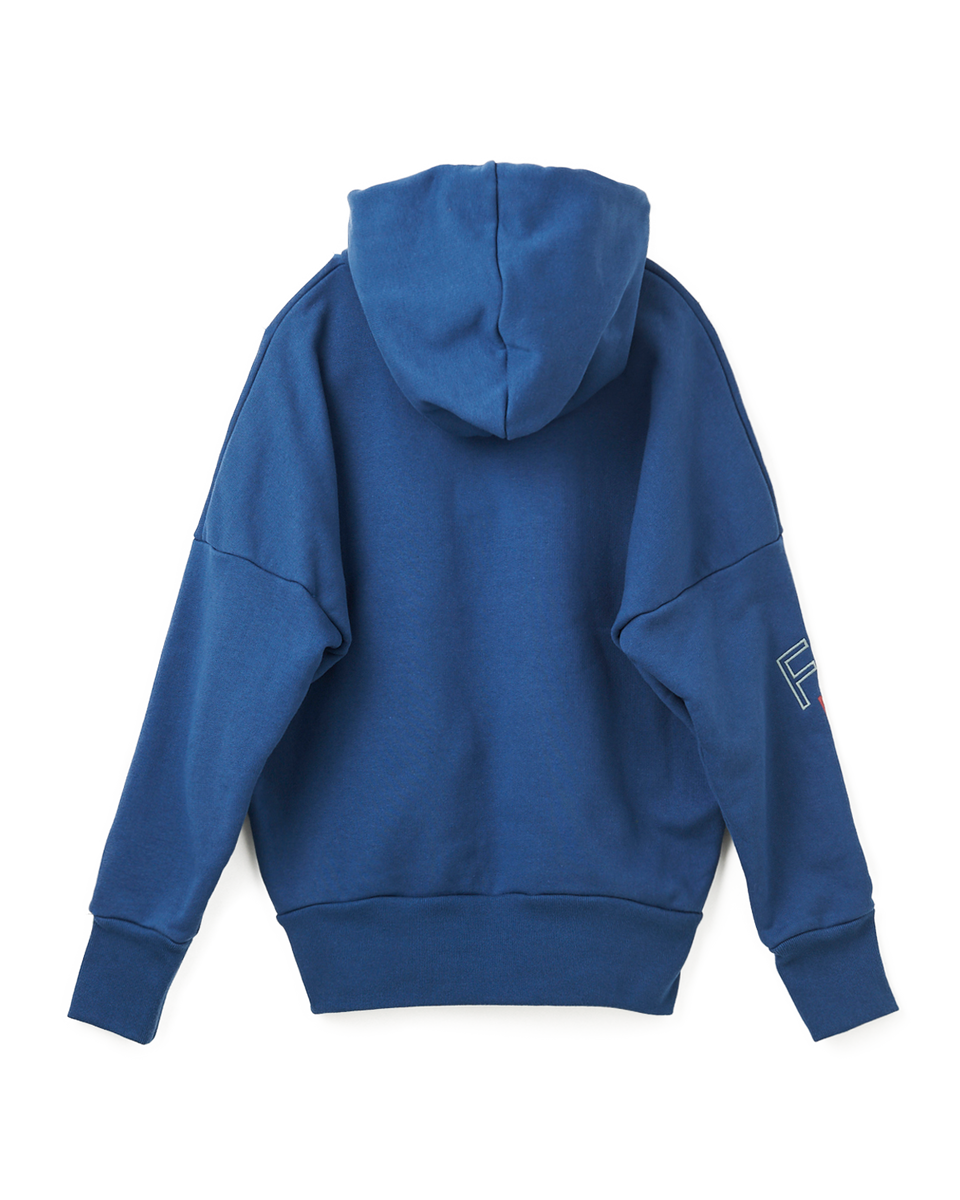 Embroidery Hoodie - 35 blue