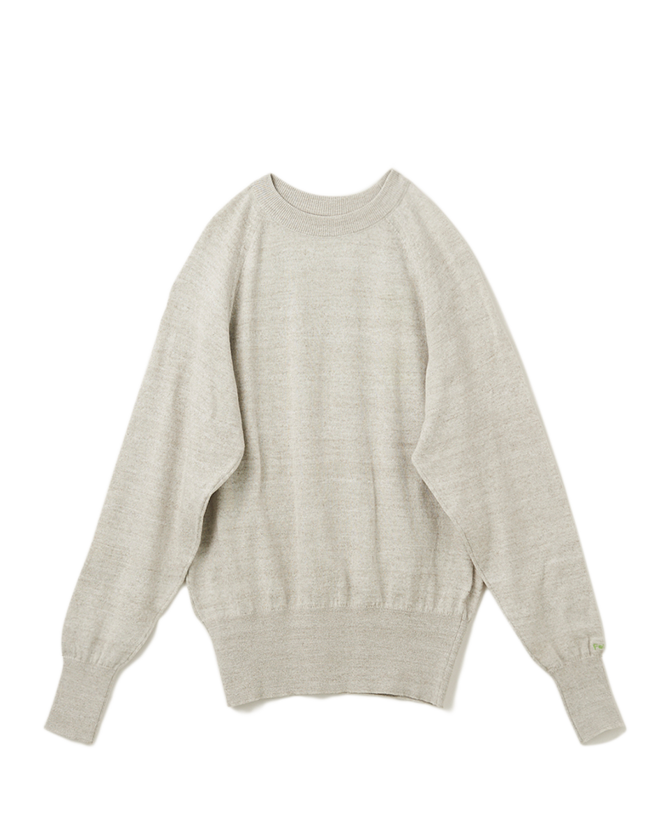 Raglan Long Sleeves Knit - 93 light gray