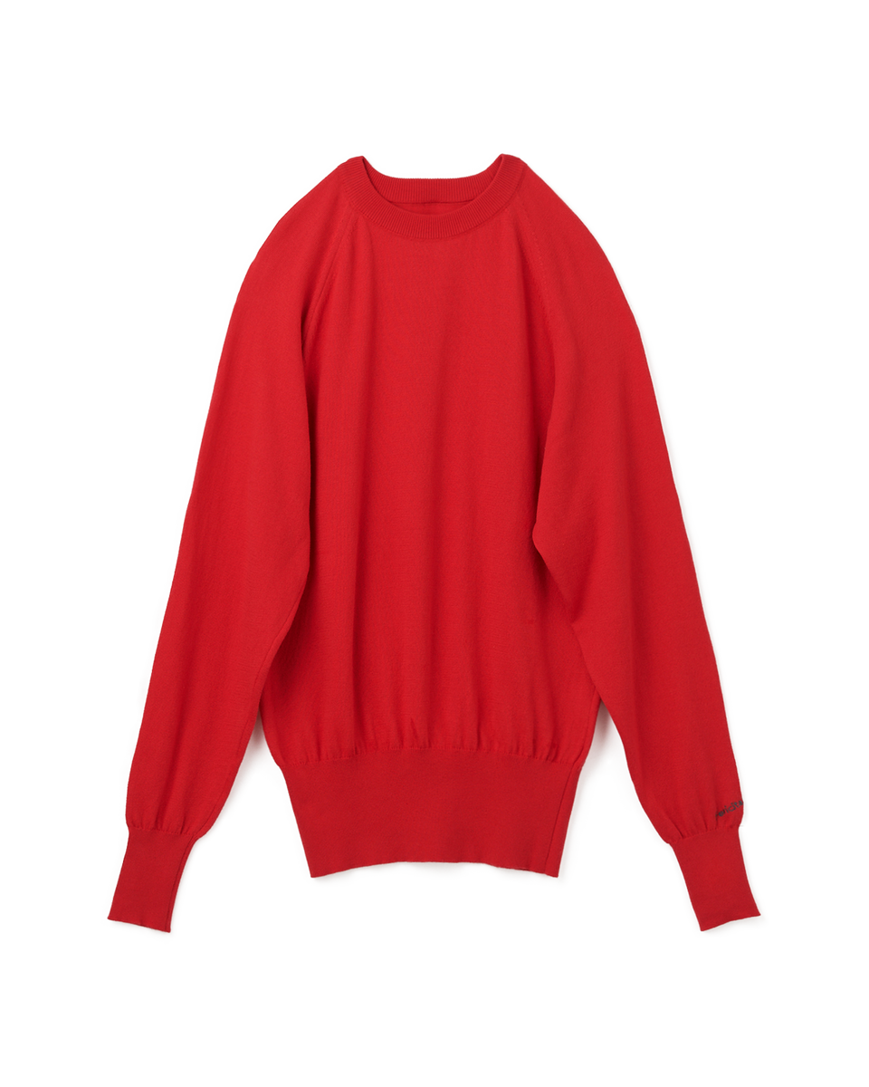[SALE] Raglan Long Sleeves Knit - 75 red