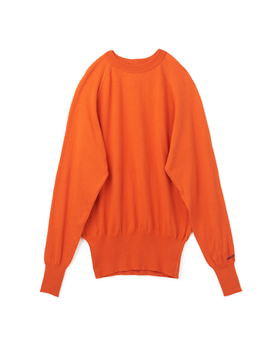 Raglan Long Sleeves Knit - 65 orange