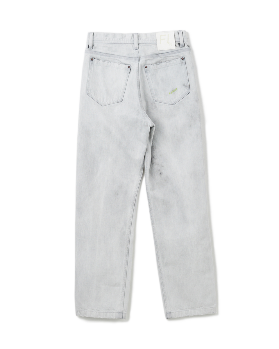 Bleach Denim Pants - 91 white