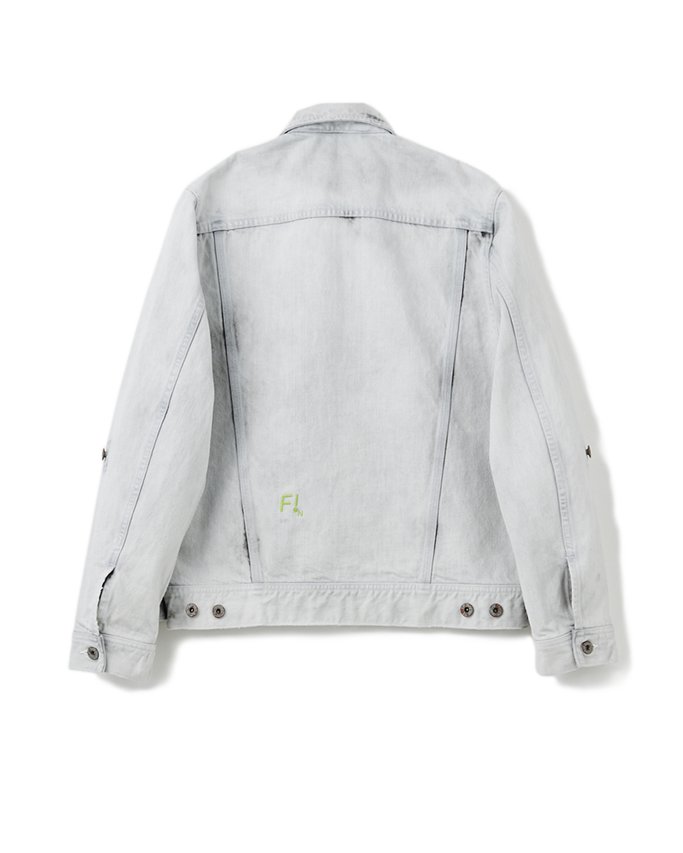 Bleach Denim Jacket - 91 white