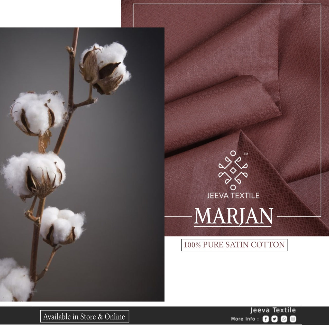 EID EDITION - MARJAN - SATIN TEXTURED 100 % COTTON