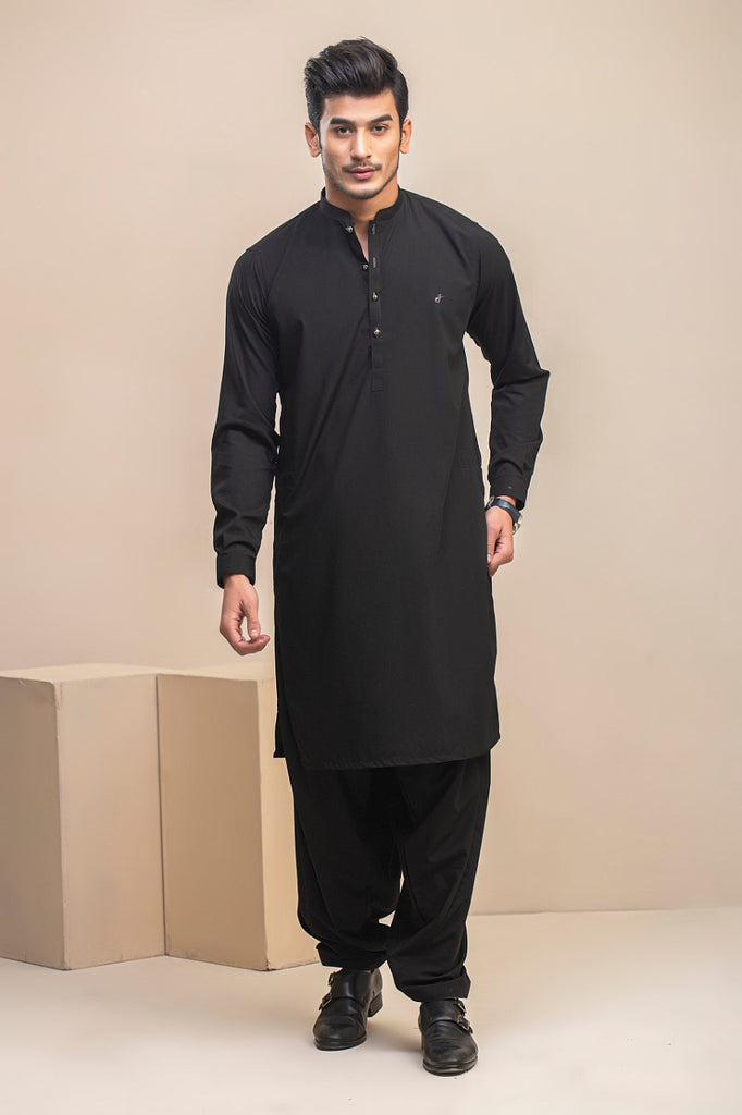 Black Wash n wear Shalwar kameez