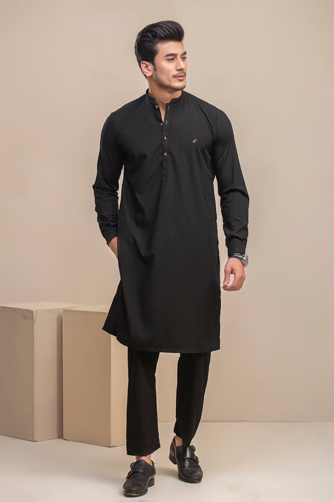 Black Wash n wear Kurta Trouser