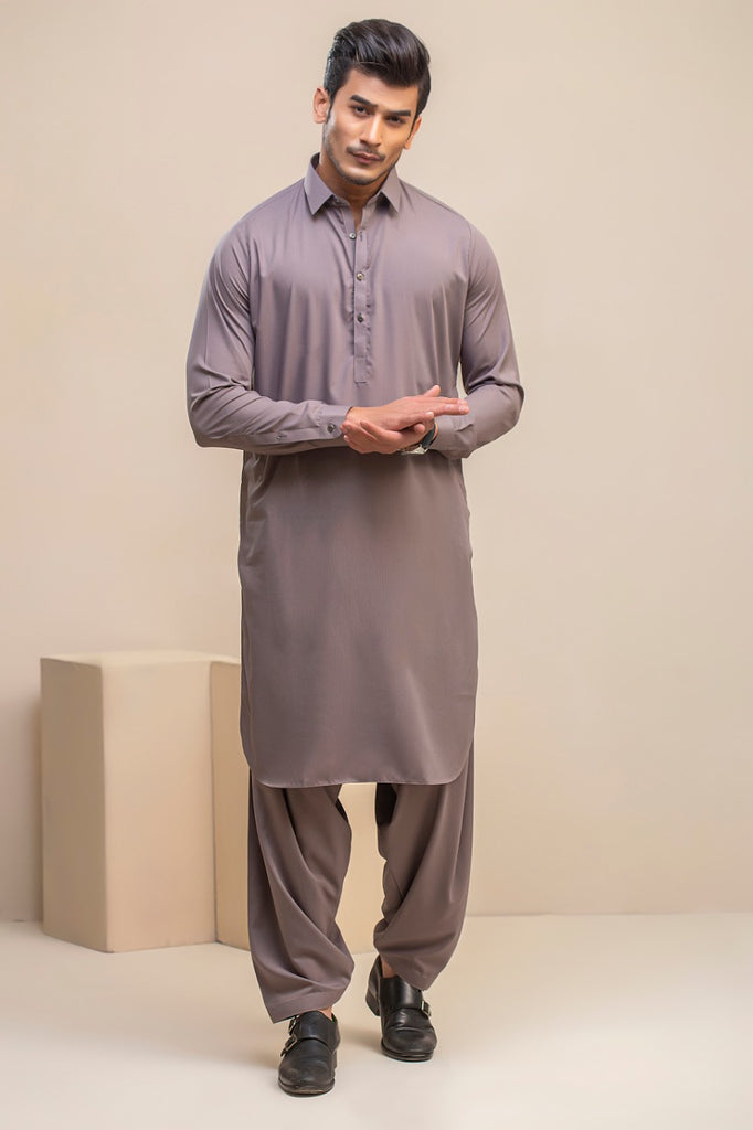 Grey Wash n wear Kameez Shalwar