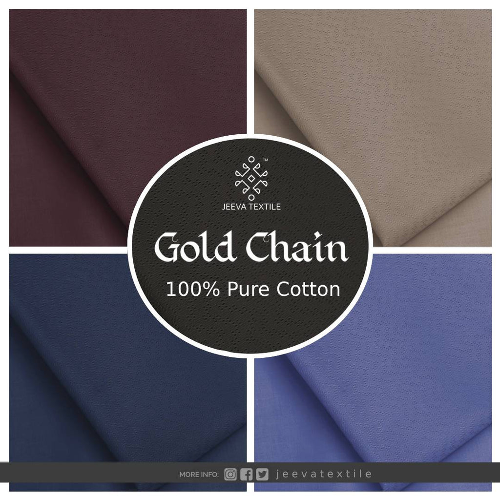A GOLD CHAIN - 100 % Pure Cotton