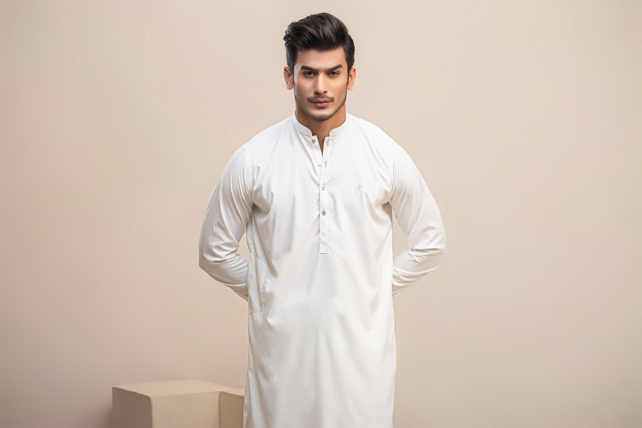 Roman Off White Boski Kurta Trouser