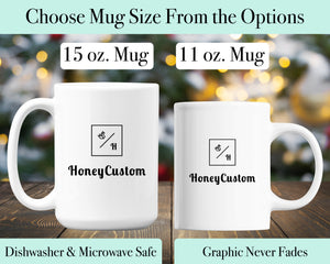 RN Mug - Registered Nurse Coffee Cup Graduation Gift - Personalized Name - HoneyCustom