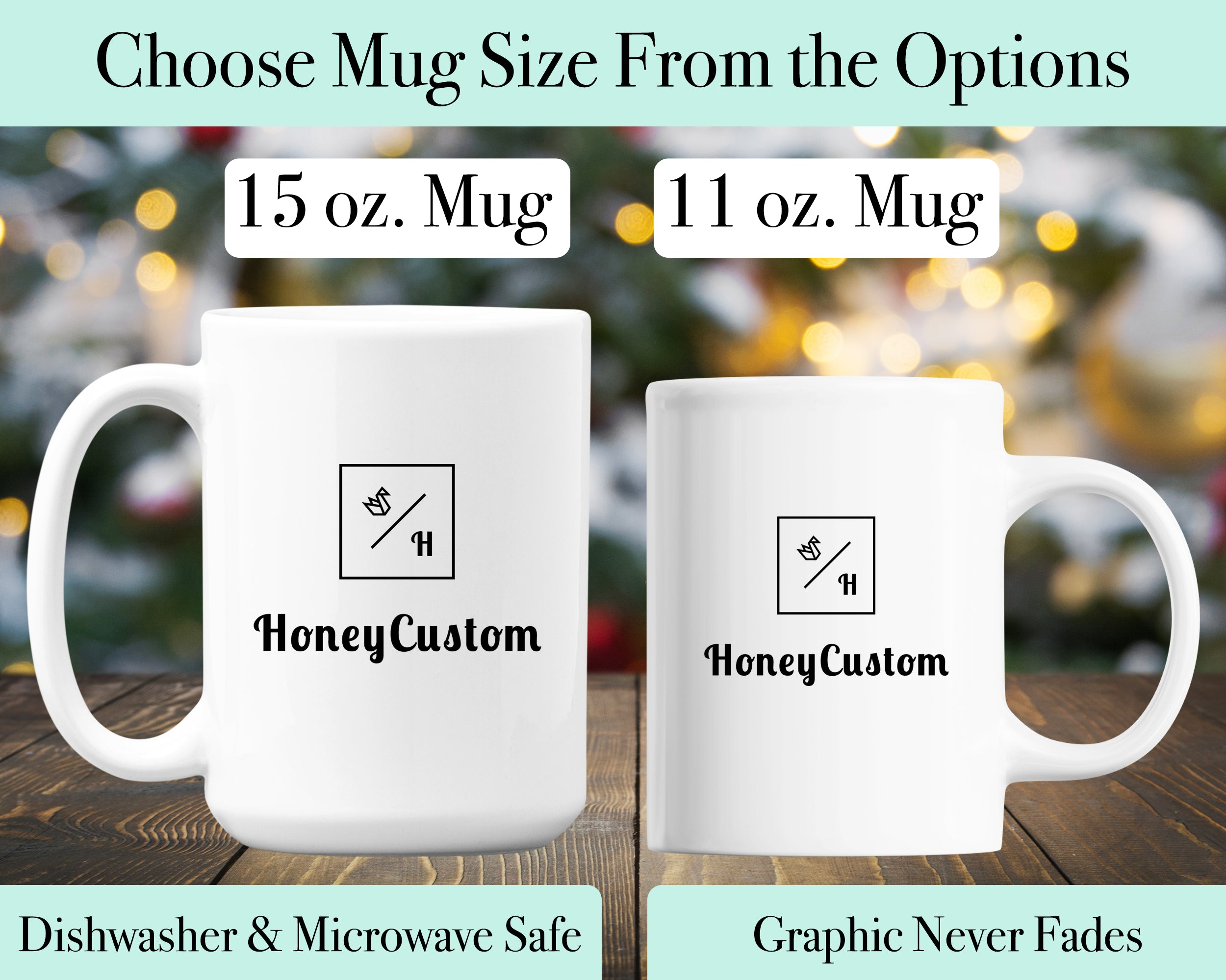 Personalized Name Coffee Mug for Women & Girls - Floral Design - HoneyCustom