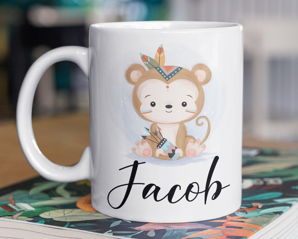 Monkey Mug – Personalized Name on Coffee Cup - HoneyCustom