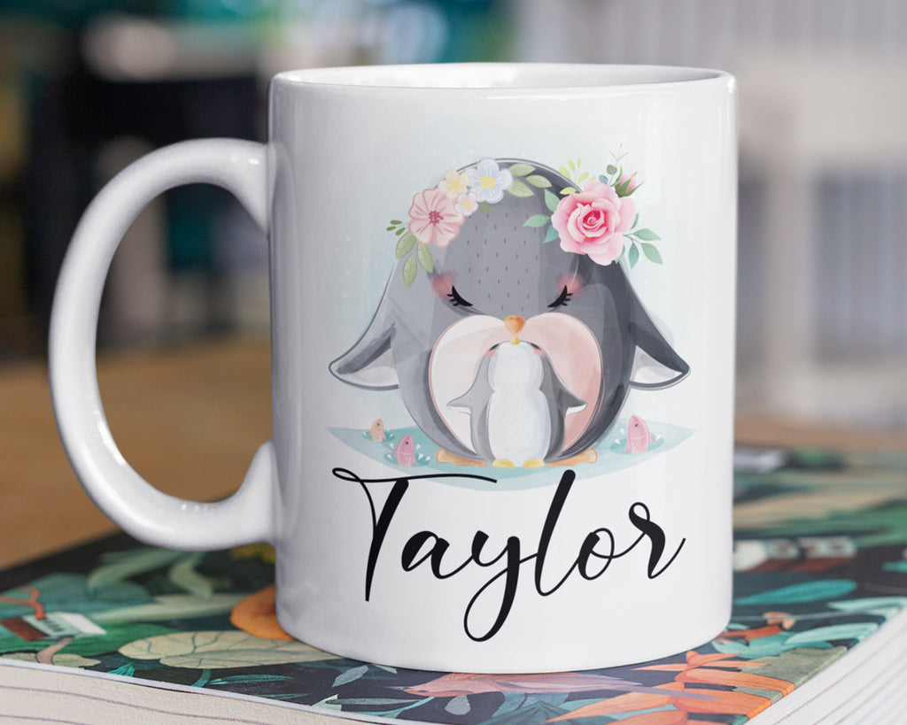 Penguin Mug – Personalized Name on Coffee Cup - HoneyCustom