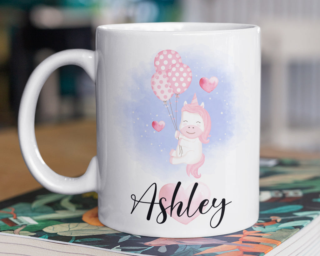 Unicorn Mug – Personalized Name on Coffee Cup - HoneyCustom