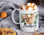 Load image into Gallery viewer, Sloth Mug – Personalized Name on Coffee Cup - HoneyCustom