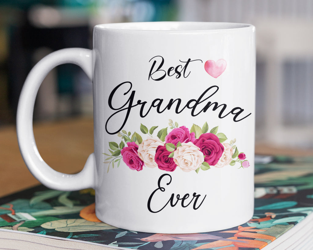 Grandma Mug - Best Grandma Ever Gifts -  Birthday - Mothers Day - HoneyCustom