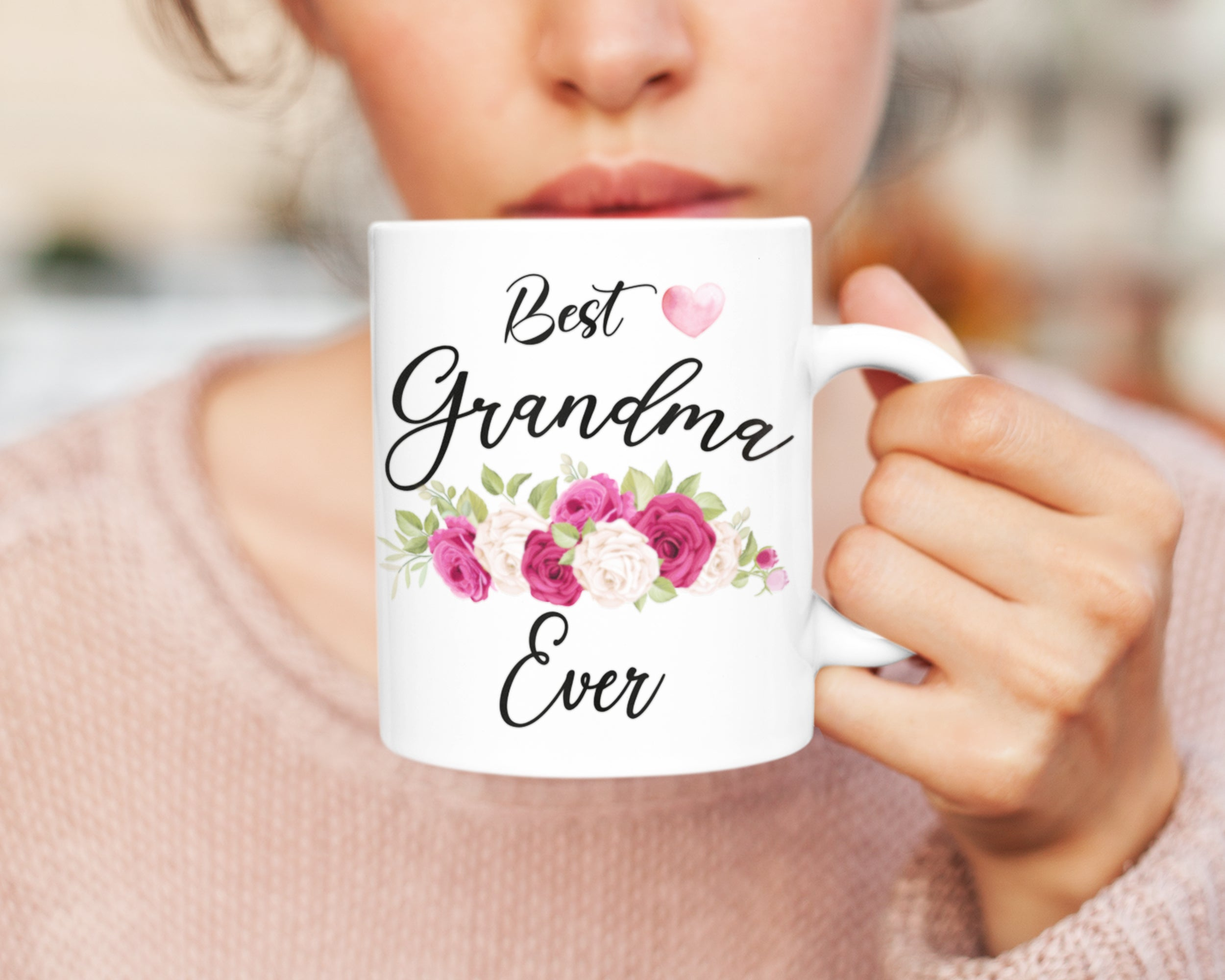 Best Grandma Ever Mug - HoneyCustom