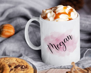 Personalized Name Coffee Mug - Watercolor - Best Friend Gift - HoneyCustom