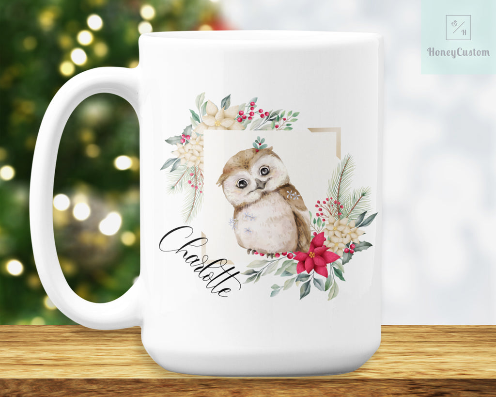 Owl Mug – Personalized Name on Coffee Cup - HoneyCustom