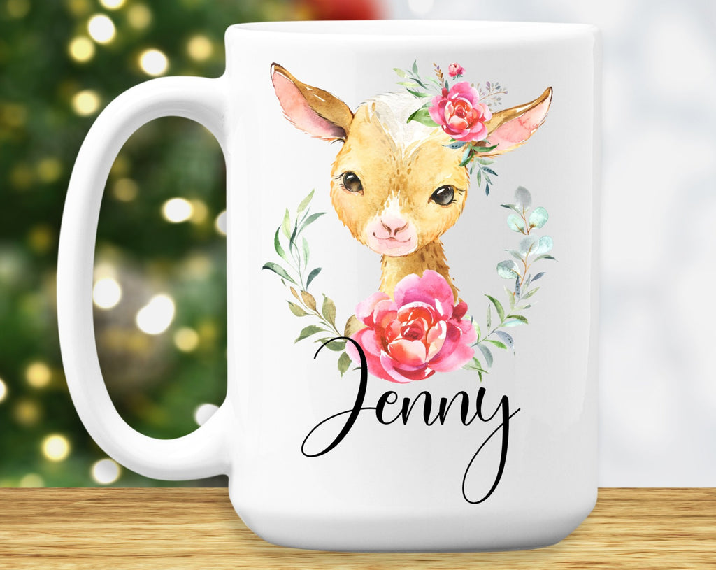 Goat Mug – Personalized Name on Coffee Cup - HoneyCustom