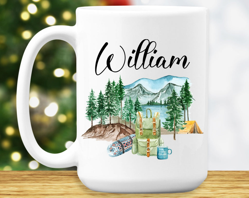 Camper Mug - Camping Lover – Personalized Name on Coffee Cup - HoneyCustom