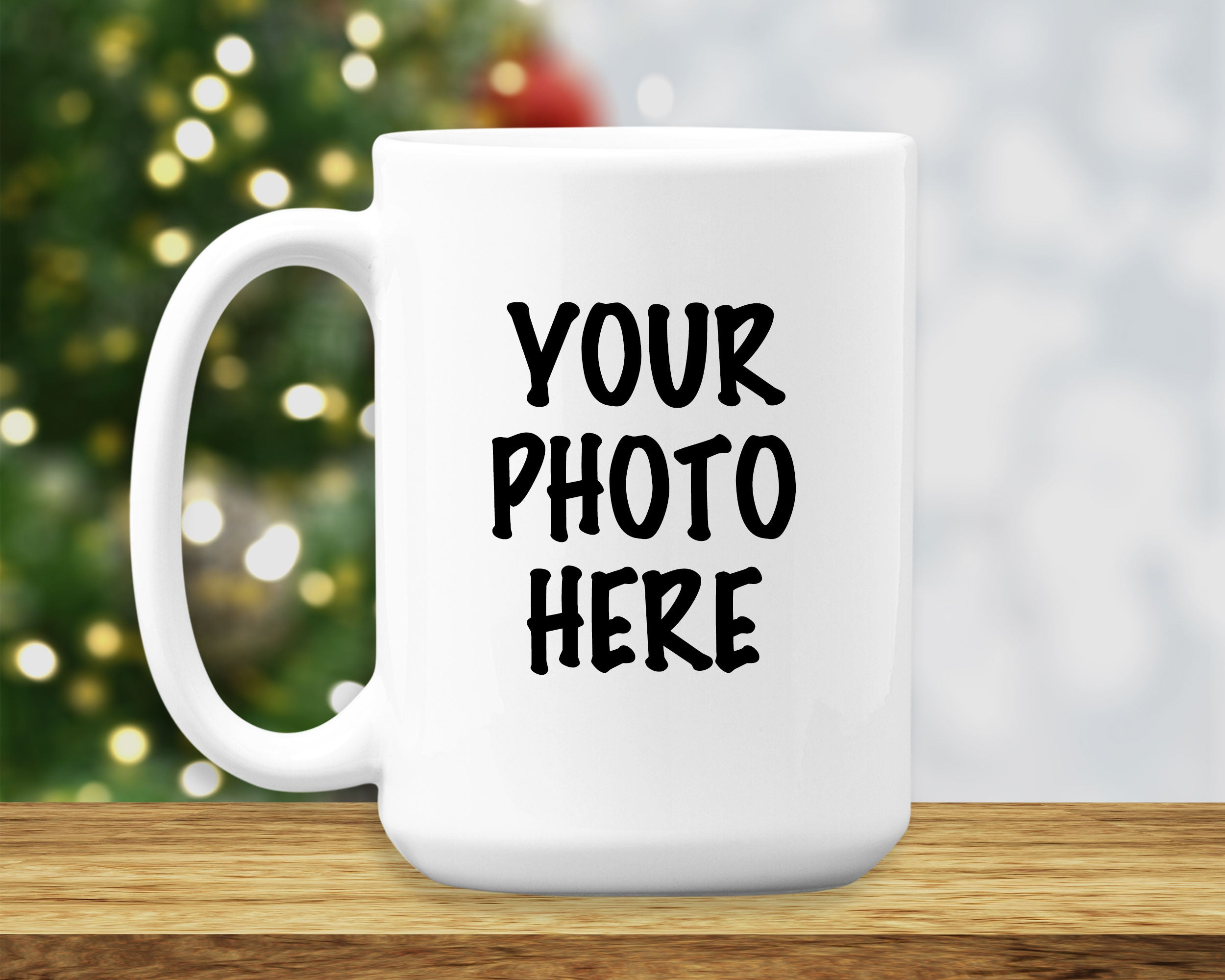 Custom Photo Coffee Mug - HoneyCustom