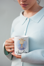 Load image into Gallery viewer, Giraffe Mug – Personalized Name on Coffee Cup - HoneyCustom