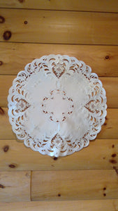 "24"" Round Table Accent Ivory Elegance"
